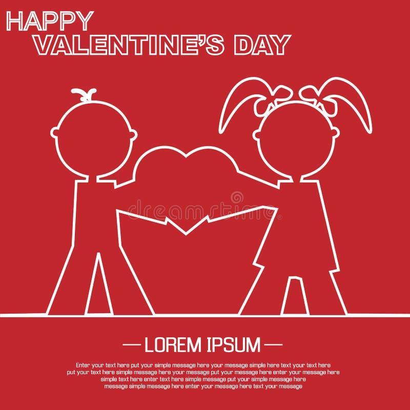 Download Coração E Amor Do Dia De Valentim Ilustração Stock - Ilustração de fundo, congratulation: 65575308