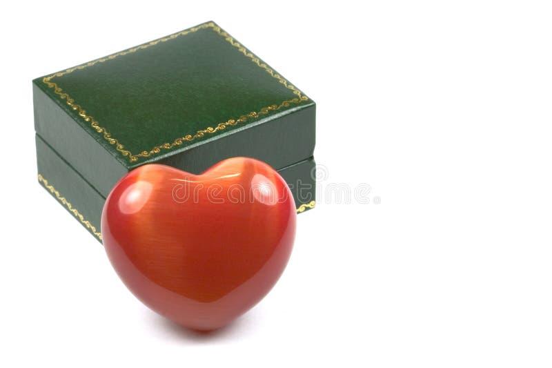 Coração e caixa imagens de stock royalty free
