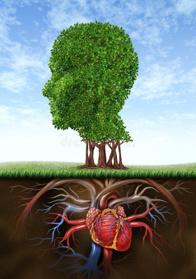Coração e mente saudáveis ilustração royalty free
