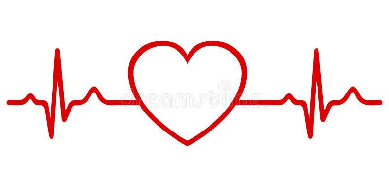 Coração e pulso - vetor ilustração stock