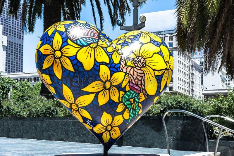 Coração em San Francisco, Califórnia imagens de stock