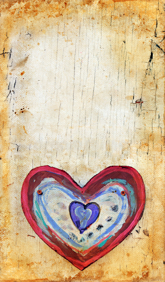 Coração em um fundo de Grunge imagens de stock