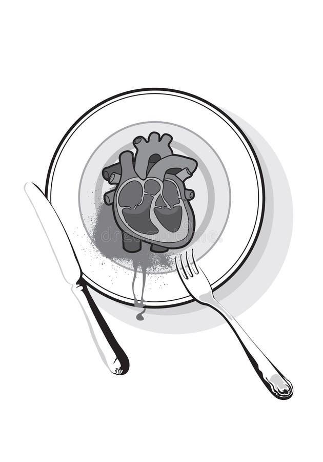 Coração em um prato imagens de stock