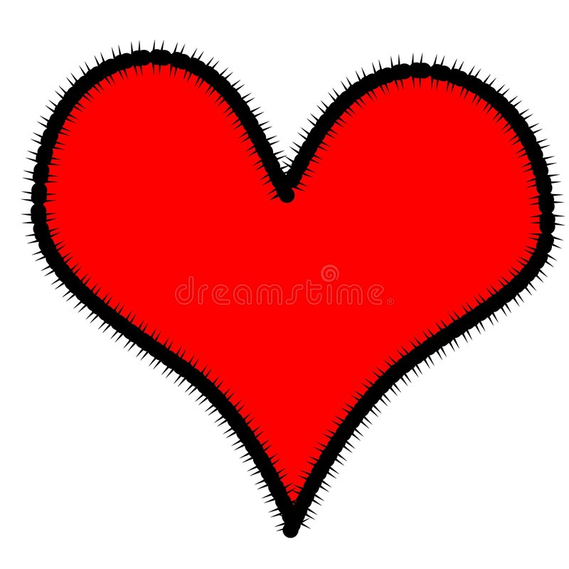Coração emendado ilustração stock