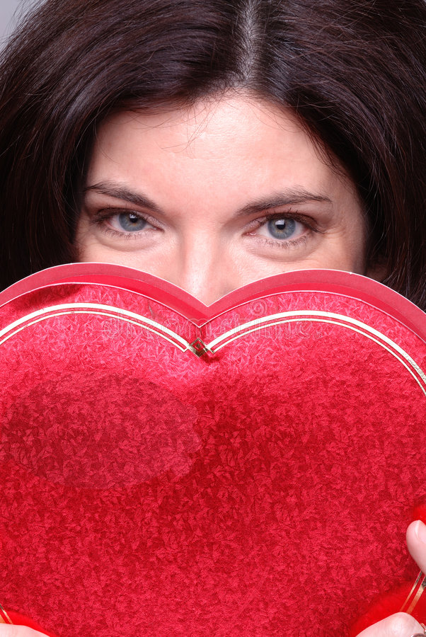 Coração escondido foto de stock