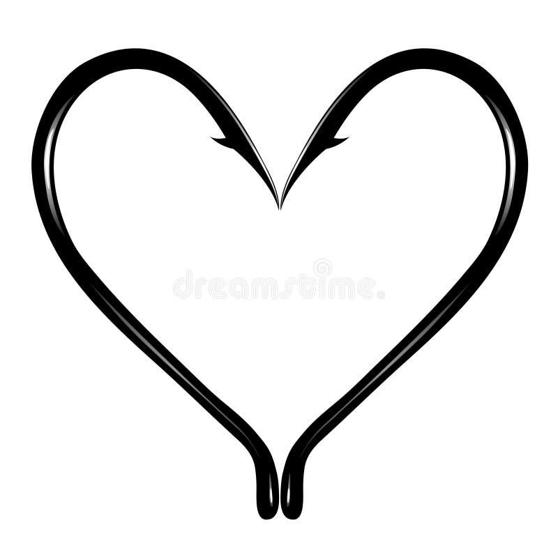 Coração espinhoso ilustração do vetor