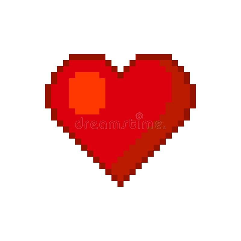 Coração Estilo da arte do pixel Vetor ilustração royalty free