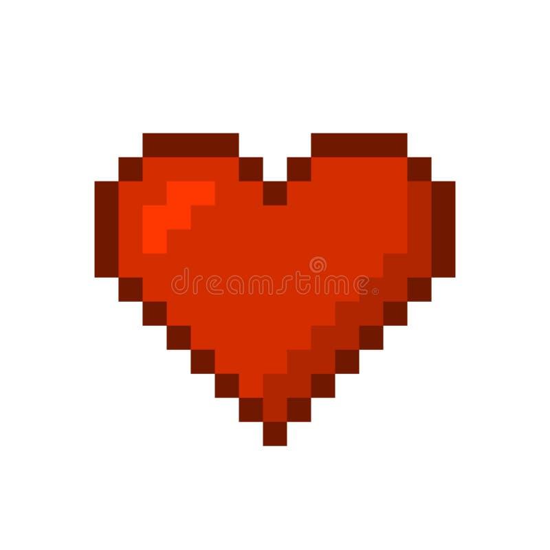 Coração Estilo da arte do pixel Vetor ilustração stock