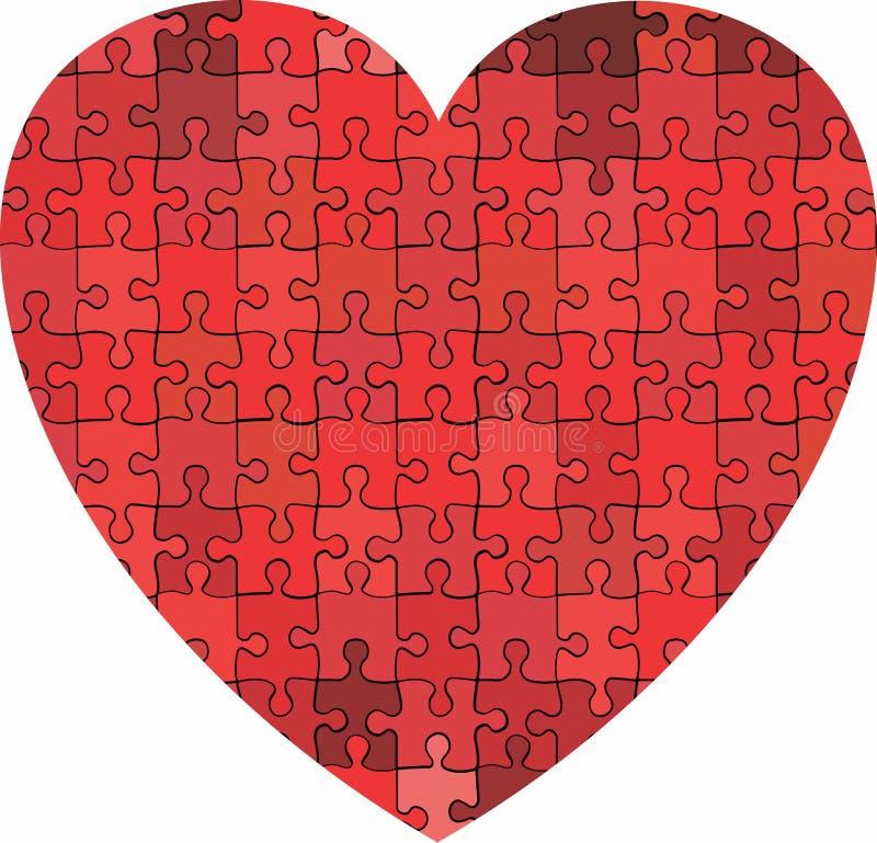 Coração feito do fundo do enigma ilustração stock