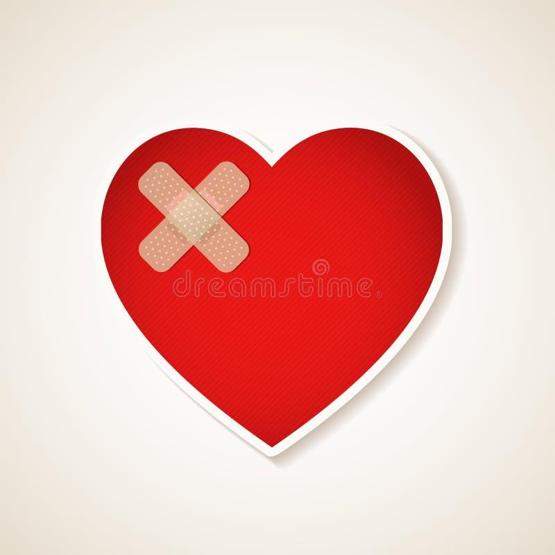 Coração ferido ilustração do vetor
