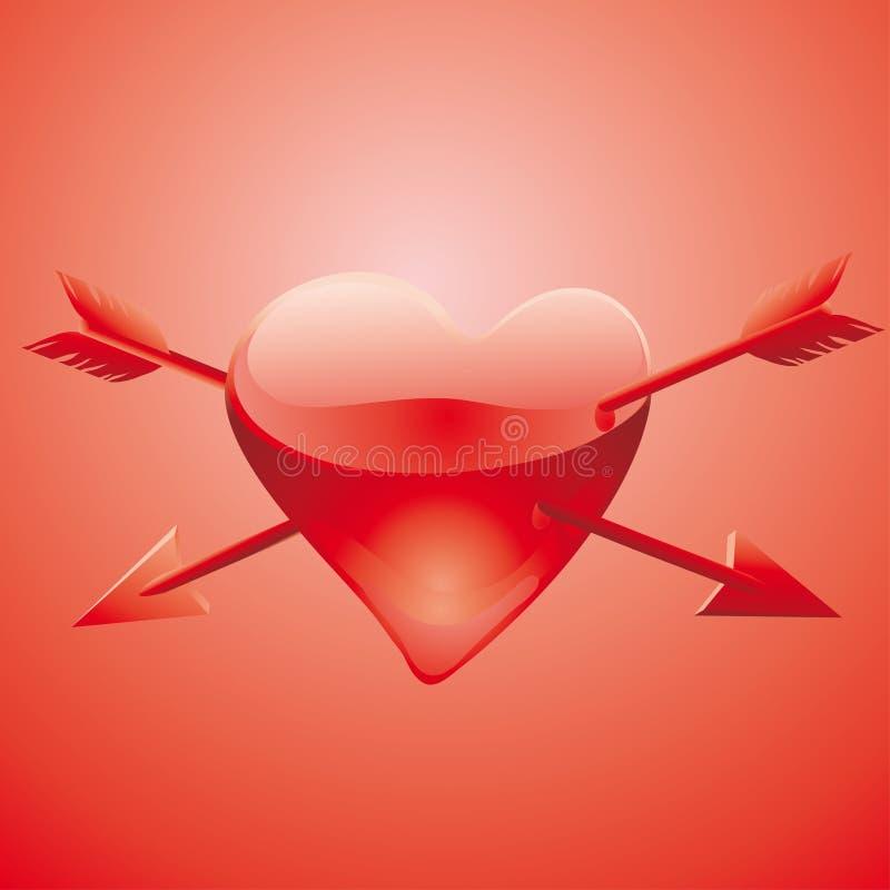 Coração ferido ilustração royalty free