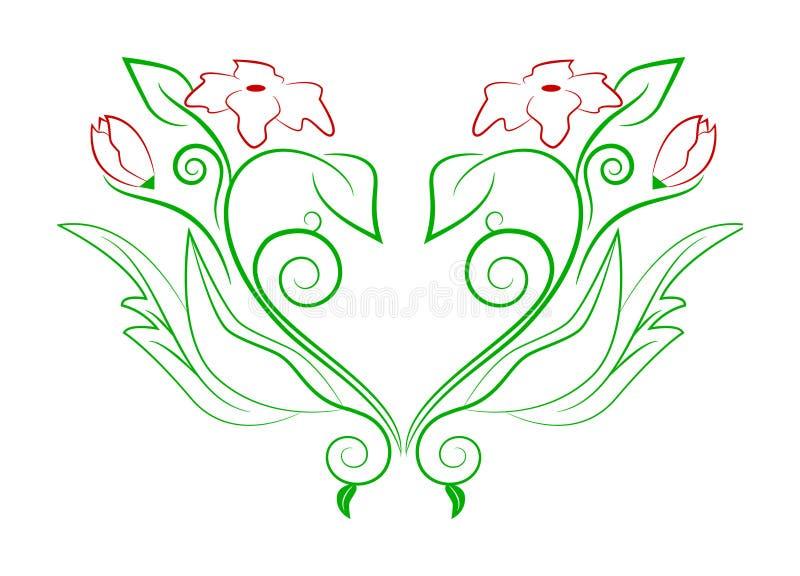 Download Coração floral ilustração do vetor. Ilustração de creatividade - 16870214