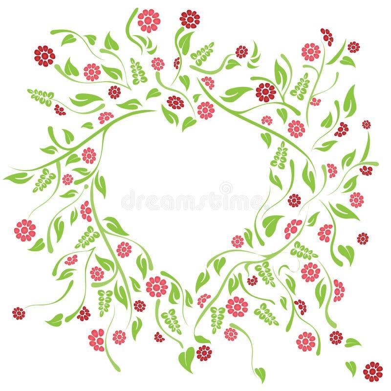 Coração floral fotos de stock