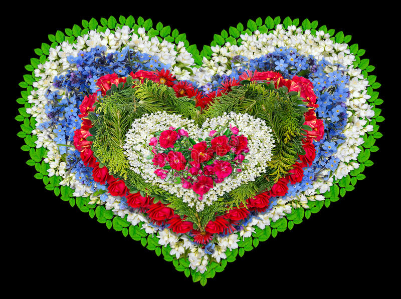 Coração floral de lamentação imagens de stock