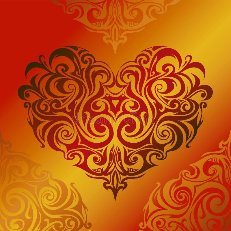 Coração-forma ilustração royalty free