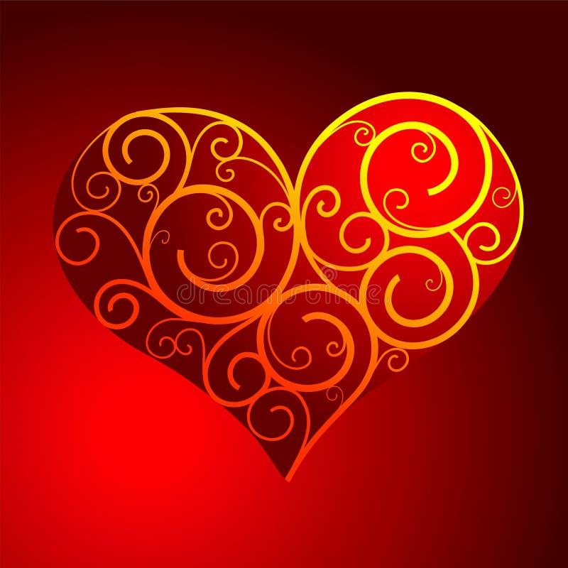 Coração-forma ilustração do vetor