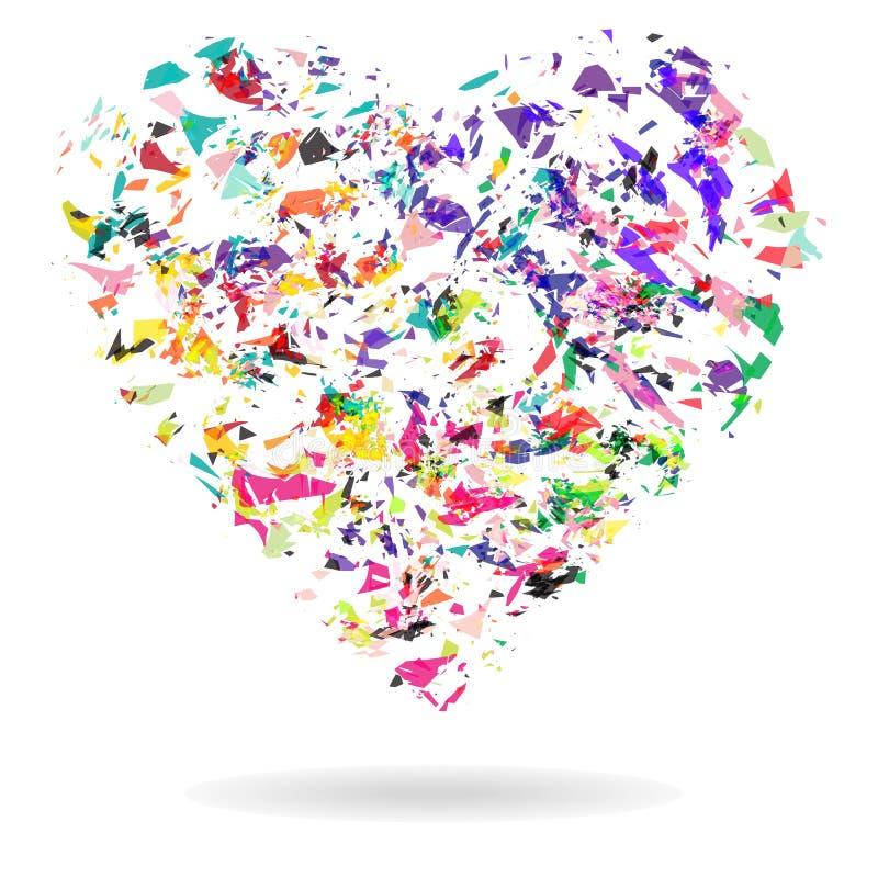 Coração, forma abstrata do coração da nuvem ilustração stock