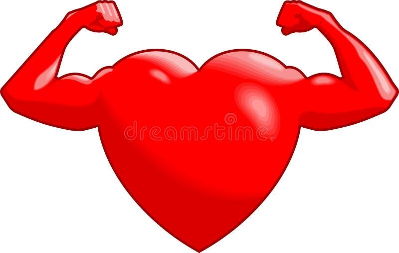 Coração forte ilustração royalty free