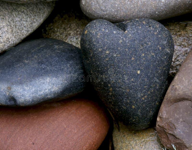 Coração frio de pedra fotos de stock