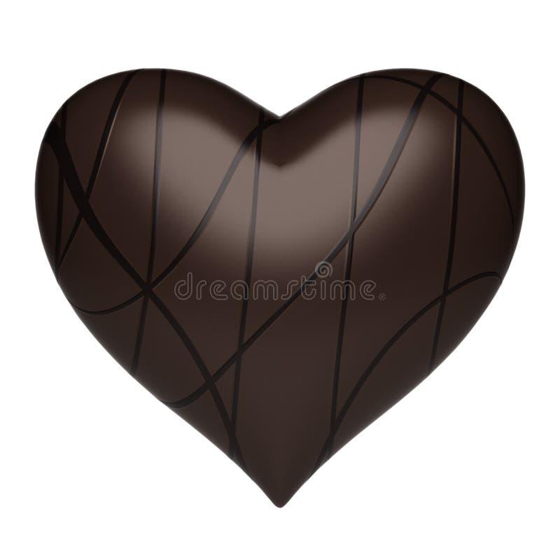 Coração - fundo do chocolate fotografia de stock