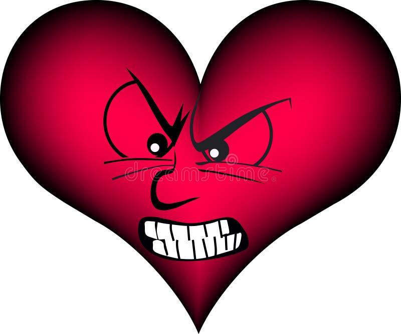 Coração furioso ilustração do vetor
