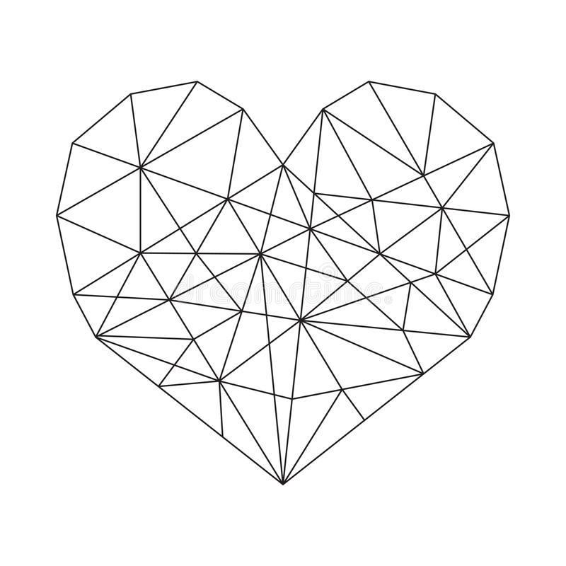 Coração geométrico ilustração royalty free