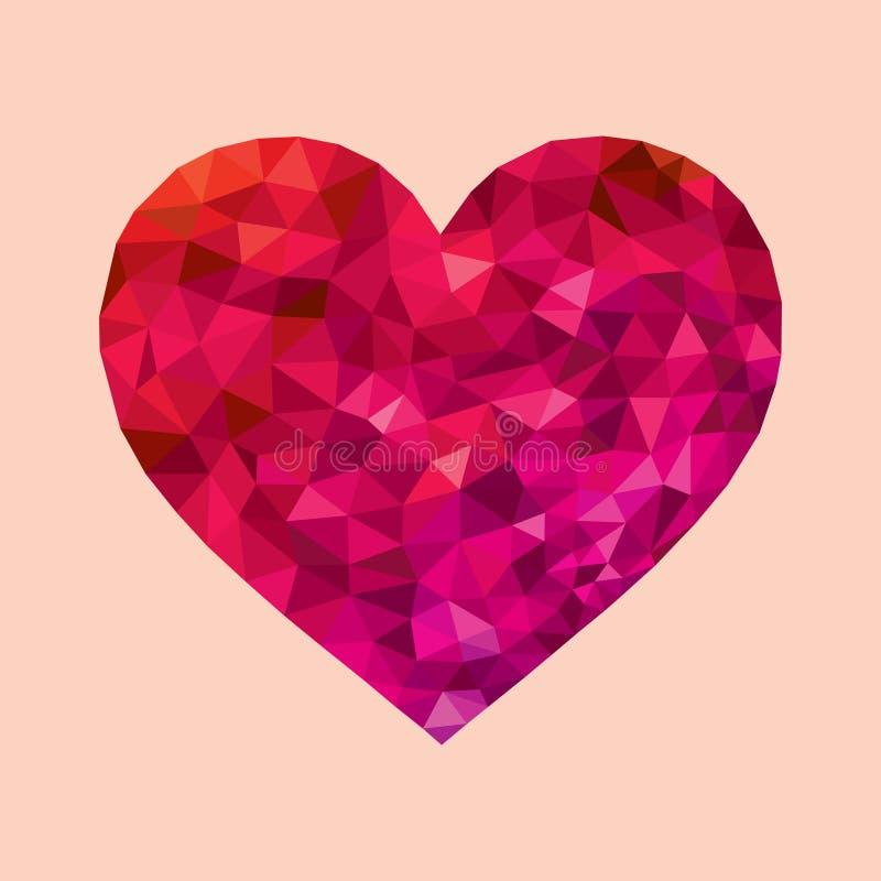 Coração geométrico do vetor ilustração royalty free