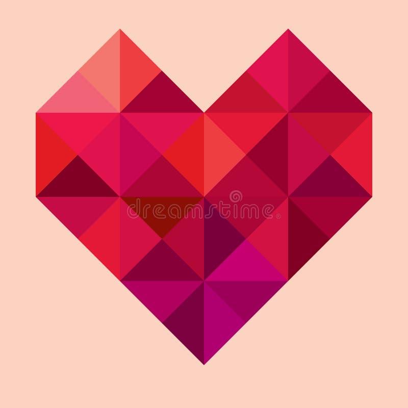 Coração geométrico do vetor ilustração stock