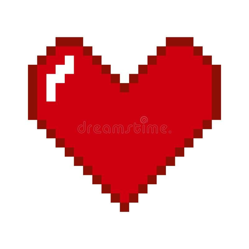 Coração geométrico do vetor ilustração do vetor