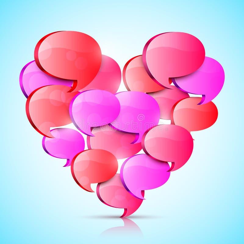 Coração grande do amor ilustração stock