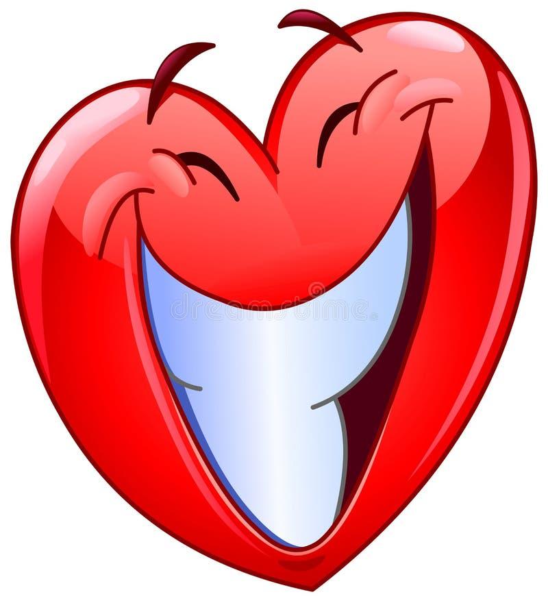 Coração grande do sorriso ilustração do vetor