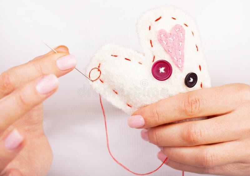 Coração Handmade imagem de stock