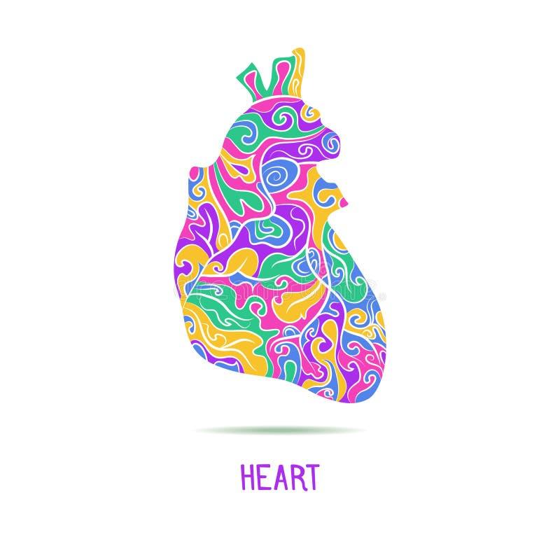 Coração humano abstrato fotografia de stock royalty free