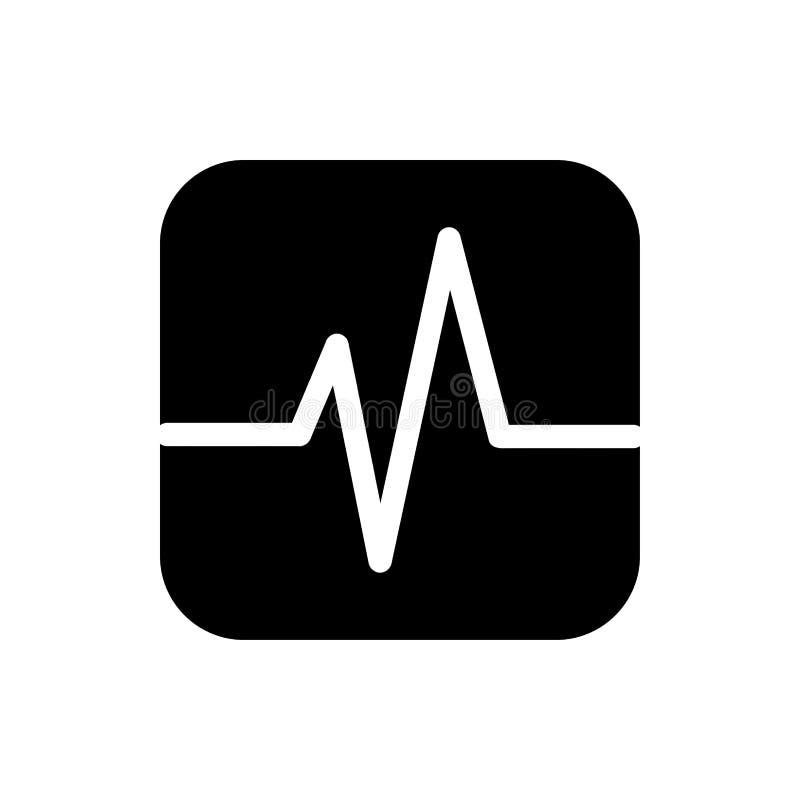 coração, humano, vetor, ilustração, médica, saúde, sinal, corpo, sangue, gráfico, pulso, ícone da pulsação do coração ilustração do vetor