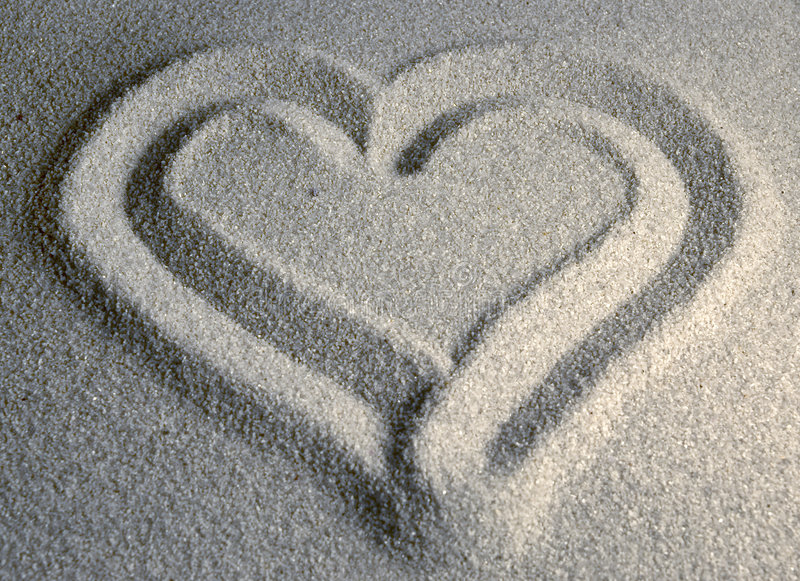 Coração II De Sandy Fotografia de Stock Royalty Free