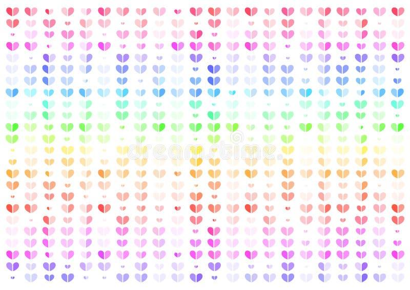 Coração, ilustração abstrata colorida do vetor do fundo, conceito dos Valentim ilustração do vetor