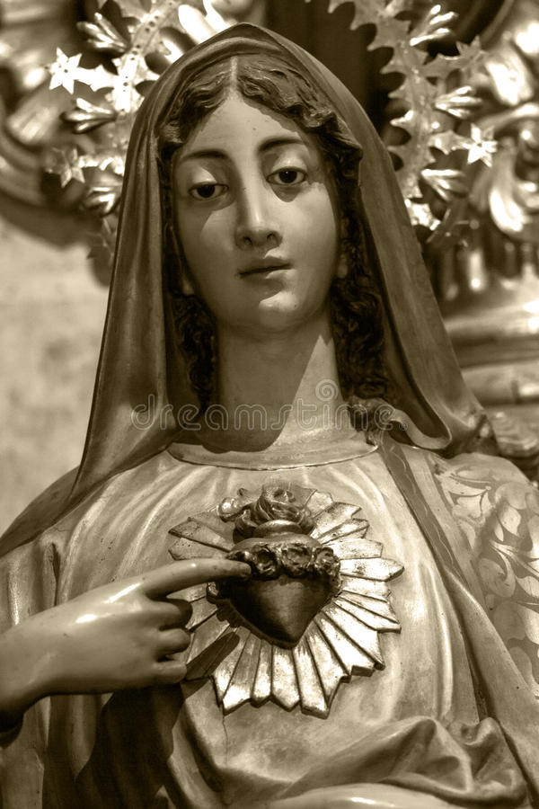 Coração imaculado de Mary imagens de stock royalty free