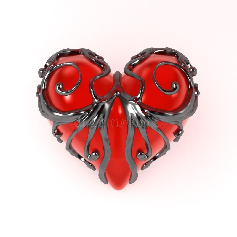 Coração incluido, dianteiro ilustração stock