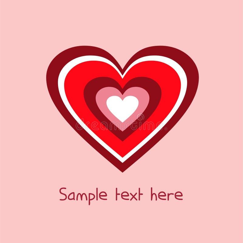 Coração iridescente de branco, de vermelho, o chocolate e o rosa em um chocola fotografia de stock
