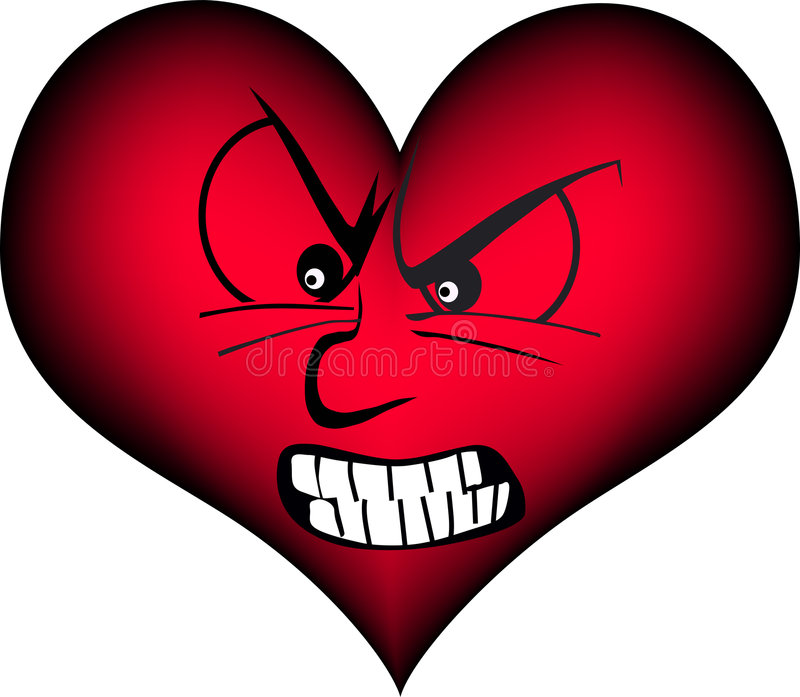 Coração irritado ilustração royalty free