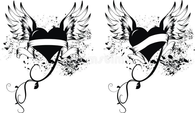 Coração love5 ilustração stock
