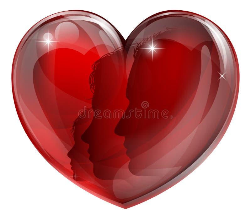 Coração loving da família ilustração stock