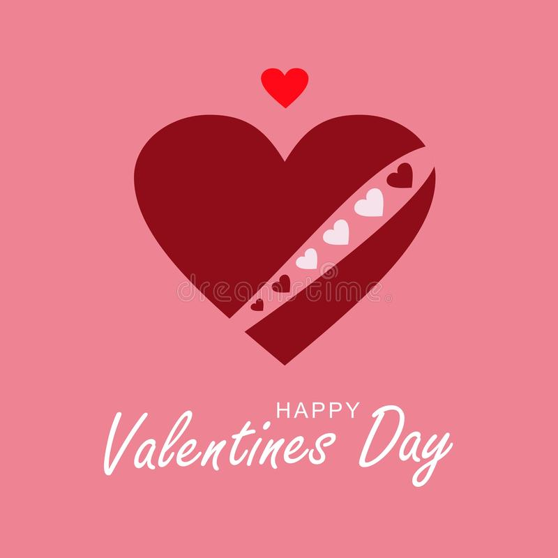 Coração Loving Coração do chocolate com uma coroa vermelha do coração imagem de stock