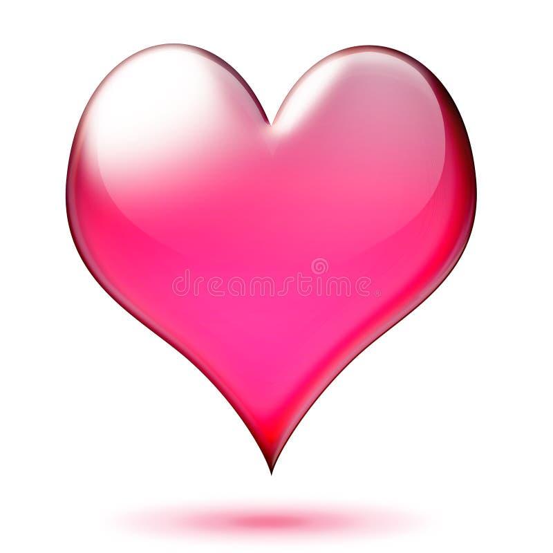 Coração lustroso ilustração stock