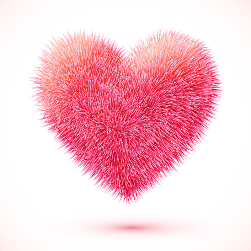 Coração macio vermelho do vetor ilustração royalty free