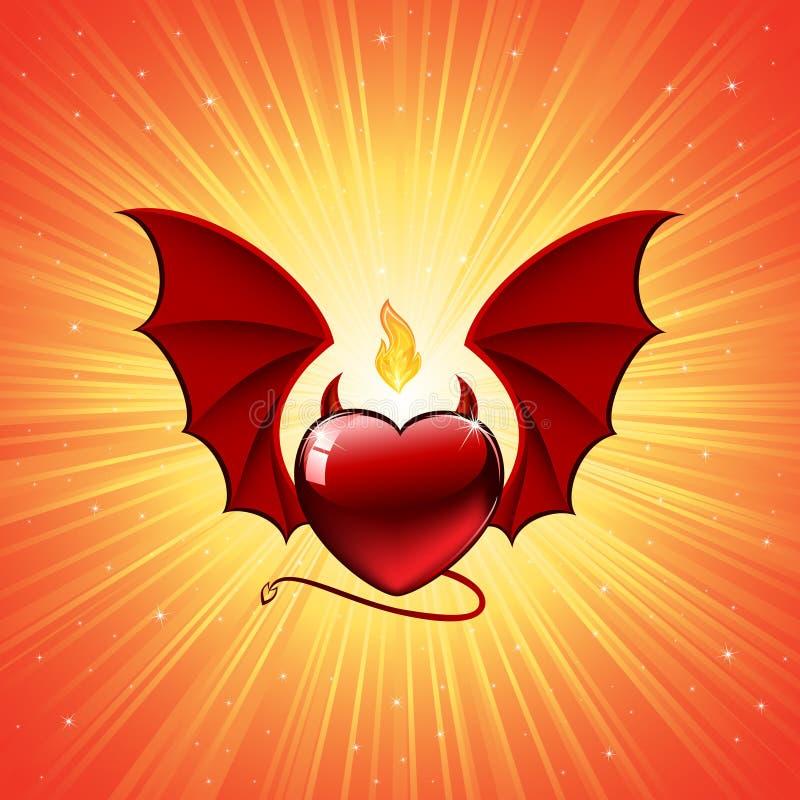 Coração mau ilustração royalty free