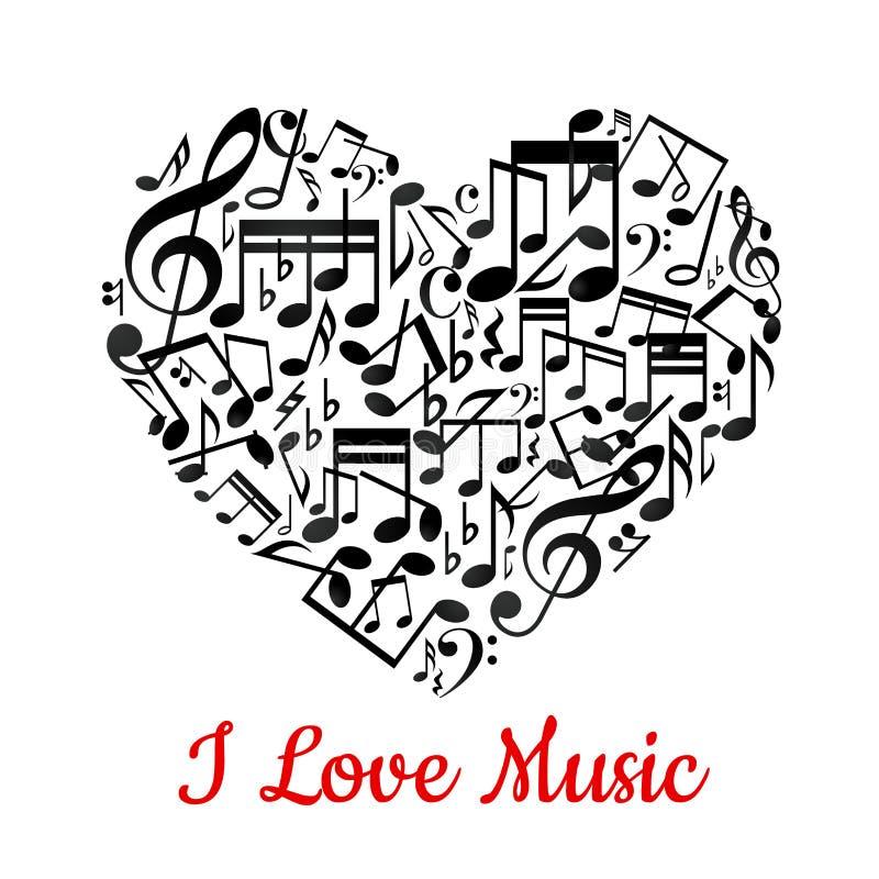 Coração musical ilustração stock