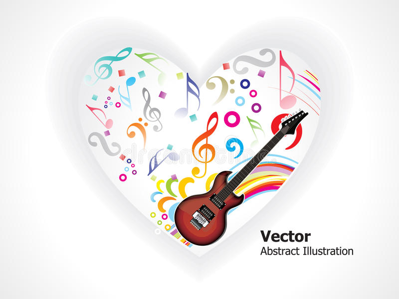 Coração musical abstrato ilustração do vetor