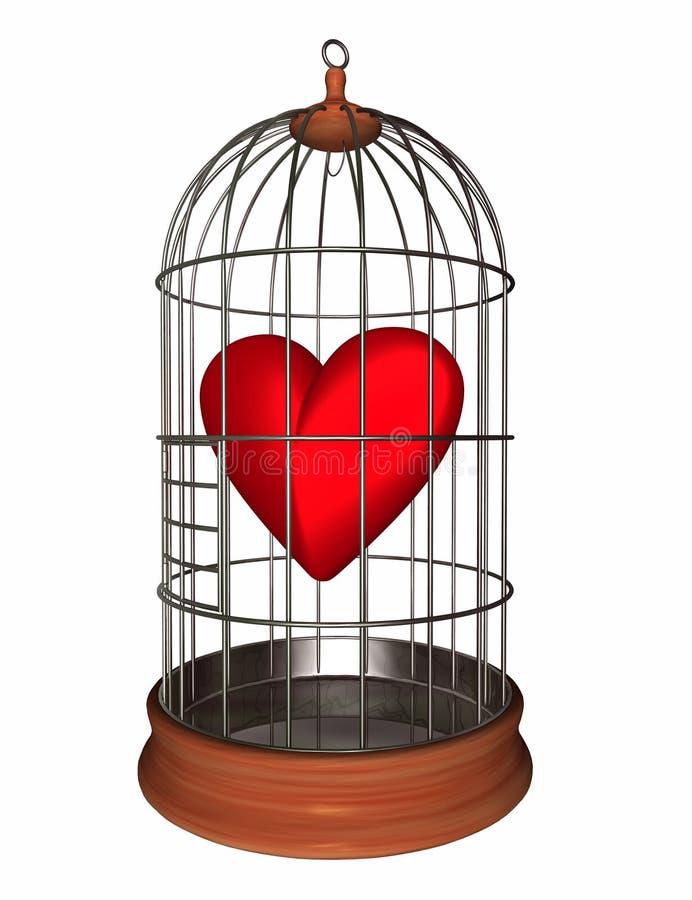 Coração na gaiola ilustração royalty free