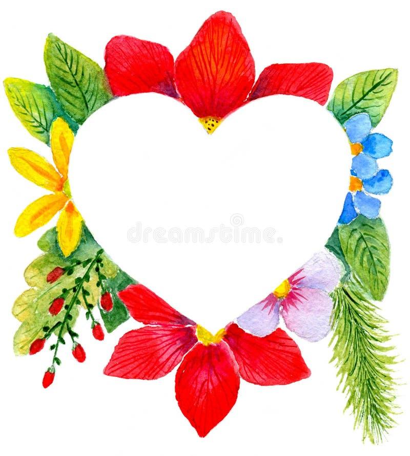 Coração nas flores imagens de stock royalty free